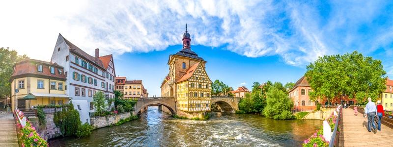 Die 9. und damit letzte Etappe führt von Eltmann in die zum UNESCO-Weltkulturerbe gehörende Stadt Bamberg.