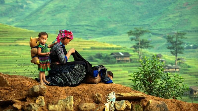 Interessant ist, dass in Vietnam Kinder immer im Mittelpunkt stehen.