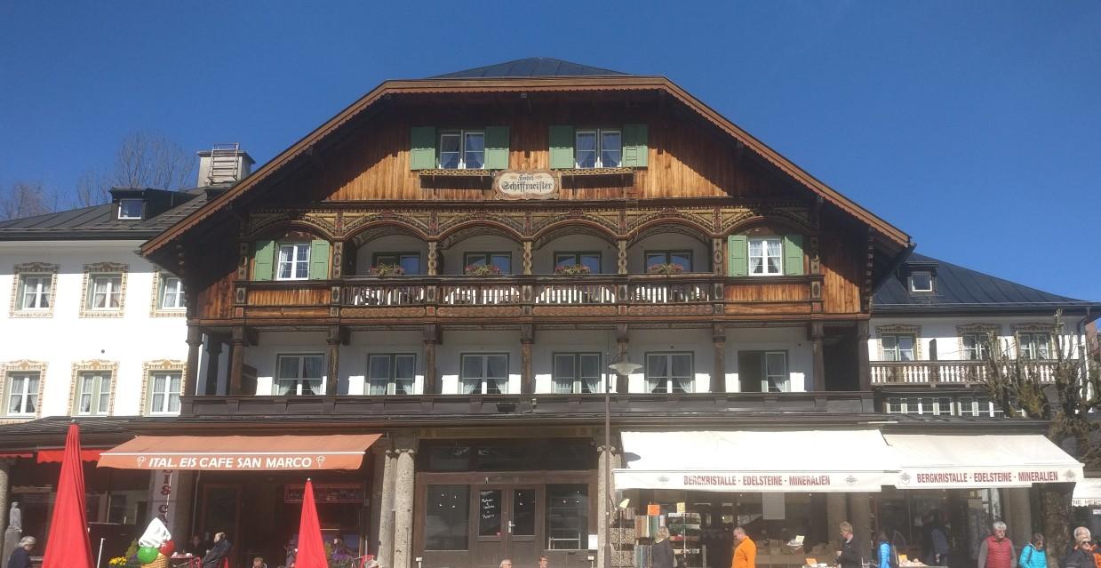 Urlauben am Königssee: Adresse(n) von günstigen Ferienwohnungen., Pensionen und Hotels. Hier im Bild: das Hotel Schiffmeister.