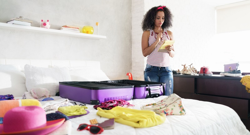Mit der Packliste kann man den Koffer leichter packen und vergisst nicht die Hälfte
