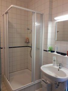 Unsere Badezimmer im Apartment in der Klinik Sonnenschein in Zwiesel