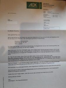 Kur-Genehmigung: Wir dürfen in die Klinik Sonnenschein in Zwiesel