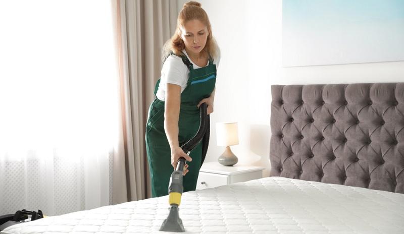 Betten gruendlich reinigen und dann einen Bettbezuge gegen Milben aufziehen.