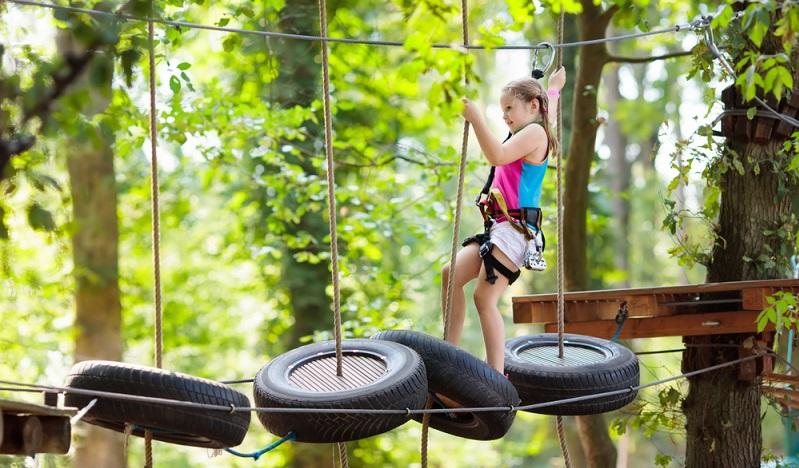Für aktive Eltern und Kinder ist dieser Spielplatz einfach spitze.